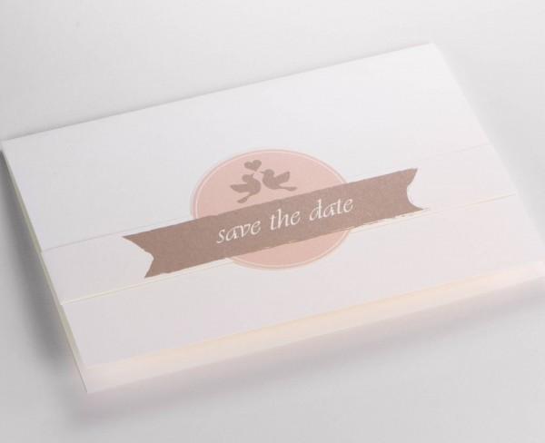 Save-the-Date-Karte Lovebirds