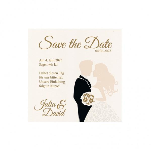 Save-the-Date-Karte Brautpaar