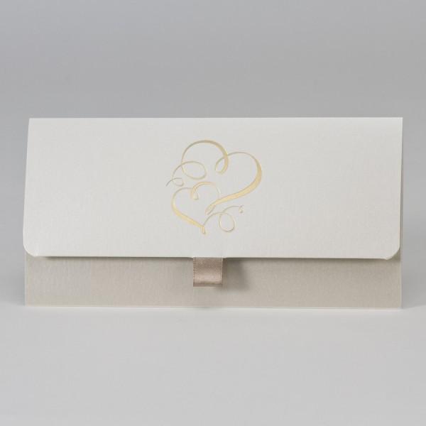 Taschenlook-Design mit Doppelherz